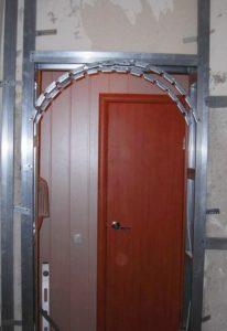 Внешний вид каркаса арки из профиля