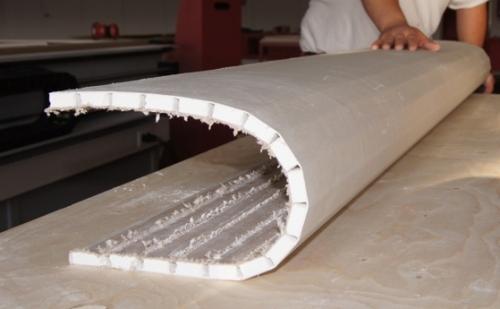 Получение криволинейных поверхностей сухим способом