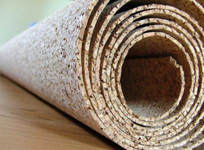 Рулон пробкового покрытия