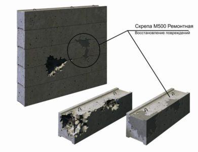Так восстанавливают бетонные изделия с помощью состава «Скрепа»