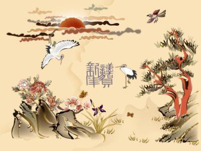 Китайское настенное покрытие
