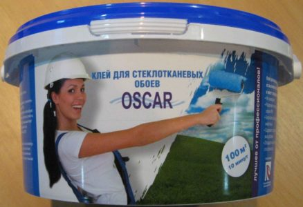 Упаковка готового клея для стеклообоев