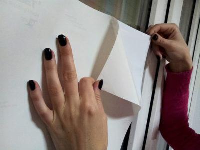 Как отделить пленку от защитной подложки