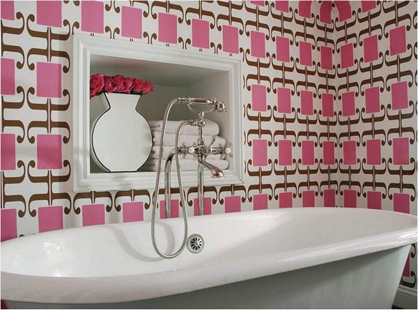 Облицовка ванной самоклеящимися обоями