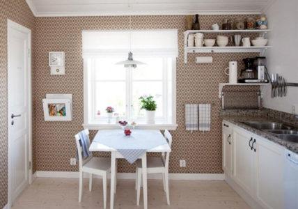 Виниловые покрытия в интерьере кухни