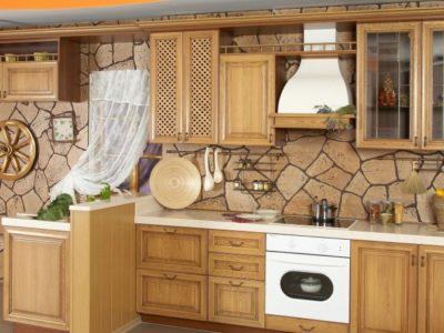 Флизелиновые покрытия в интерьере кухни