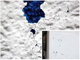 Скалывание фасадной краски