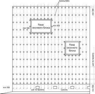 Схема расположения кронштейнов