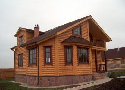 Облицовка фасада деревянным сайдингом
